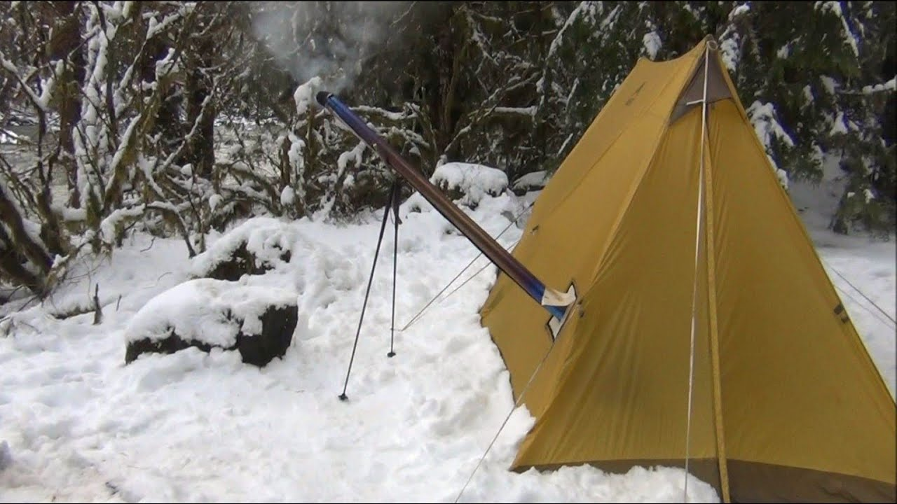 Another Overnight in the UltraLight Backpacking Hot Tent and Hammock Hot Shelter - YouTube & Another Overnight in the UltraLight Backpacking Hot Tent and ...