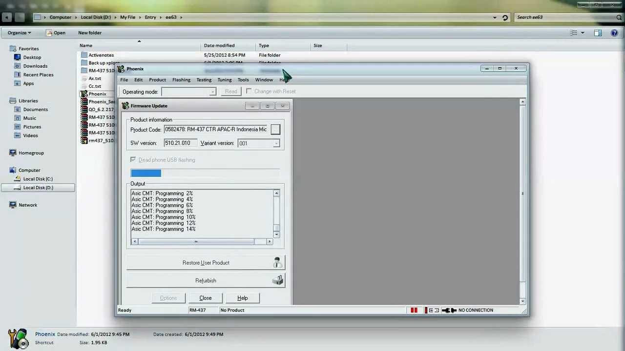 tutorial flashing Nokia E63 with Phoenix Dead Mode - YouTube