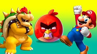 MARIO & ANGRY BIRDS vs. BOWSER ♫  a short 3D animation game mashup ☺ FunVideoTV - Style ;-))
