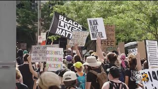 Hundreds Of Protesters Gather In Downtown Pittsburgh
