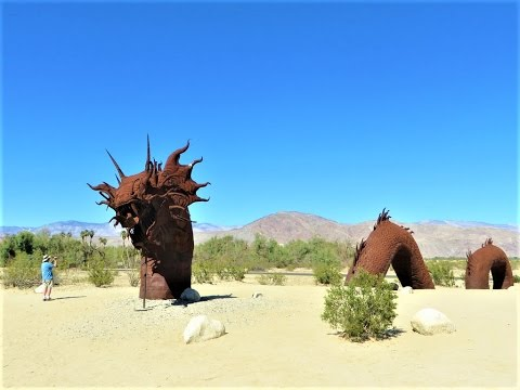 Borrego Springs, CA - Giant Metal Sculptures in Anza-Borrego Desert State Park