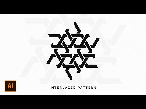 Interlaced Geometric Pattern
