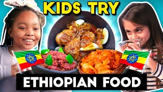 Kids Try Ethiopian Food For The First Time | People Vs. Food