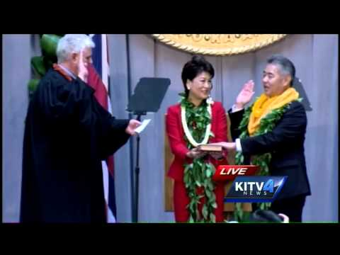 David Ige sworn in as Hawaii governor