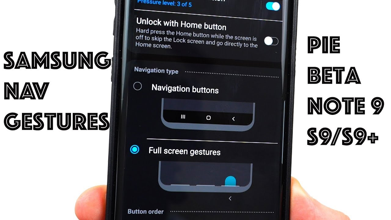 Android Pie Samsung Experience 10 0 Navigation Gestures