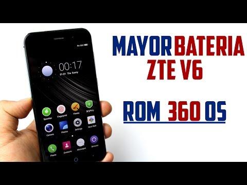 Mayor batería Rom 360 os Zte v6 | Rom que recomiendo | Tecnocat