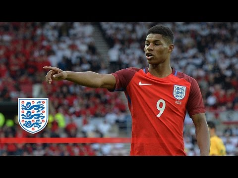 Marcus Rashford's debut goal for England | Goals & Highlights