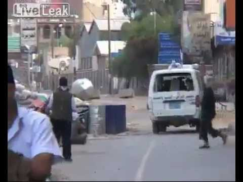 Cameraman Films His Own Death- Head Shot By Sniper- Yemen