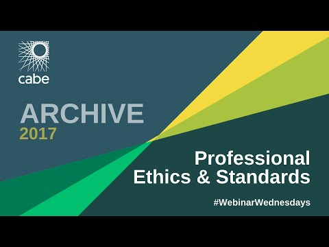 WEBINAR - Professional Ethics & Standards