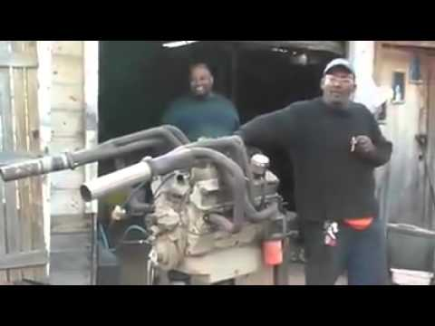 Hilarious first time engine start