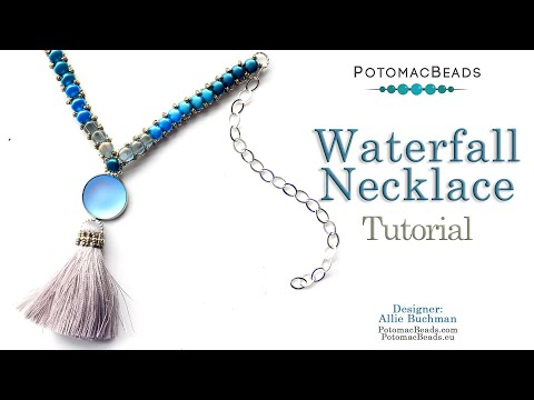 How to make the Waterfall Necklace - DIY Jewelry Making Tutorial by PotomacBeads