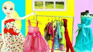How to make a Miniature Doll Clothes Rack & Hangers  -   - simplekidscrafts