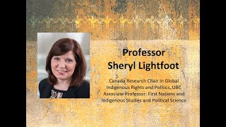 Canada, the Churches, and Bill C-15: Sheryl Lightfoot