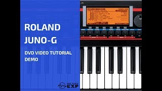Roland Juno-G DVD Video Tutorial Demo Review Help