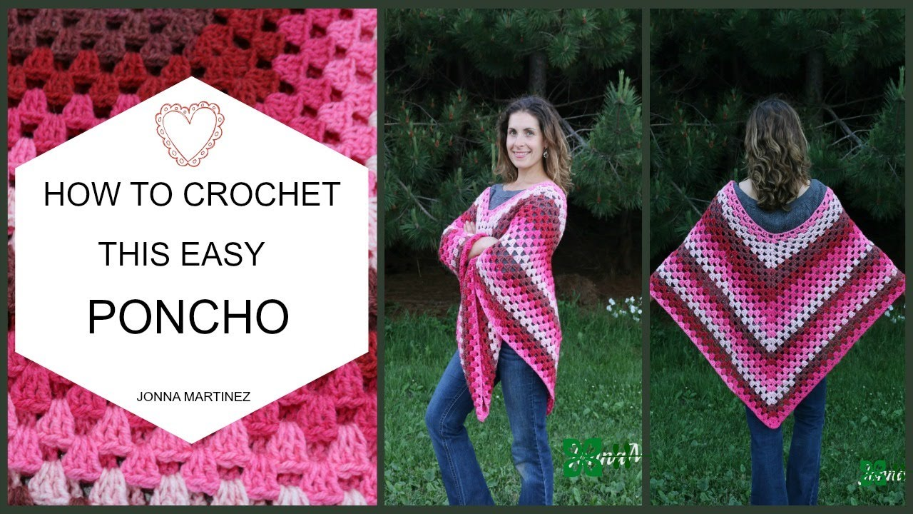 How To Crochet This Easy Poncho Youtube