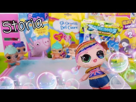 Lil - Lol Surprise Story 🛀🚿 Bagnetto in piscina + apertura blind bag 💗 Hope fa da Baby sitter 💗