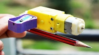 Amazing Idea With Geared Motor || Sharpner dispenser machine