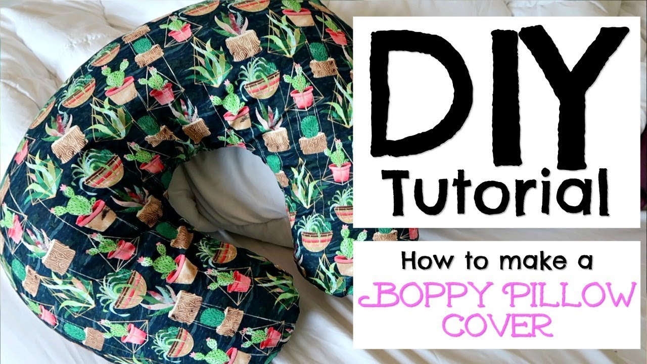 how to make a boppy pillow cover diy tutorial