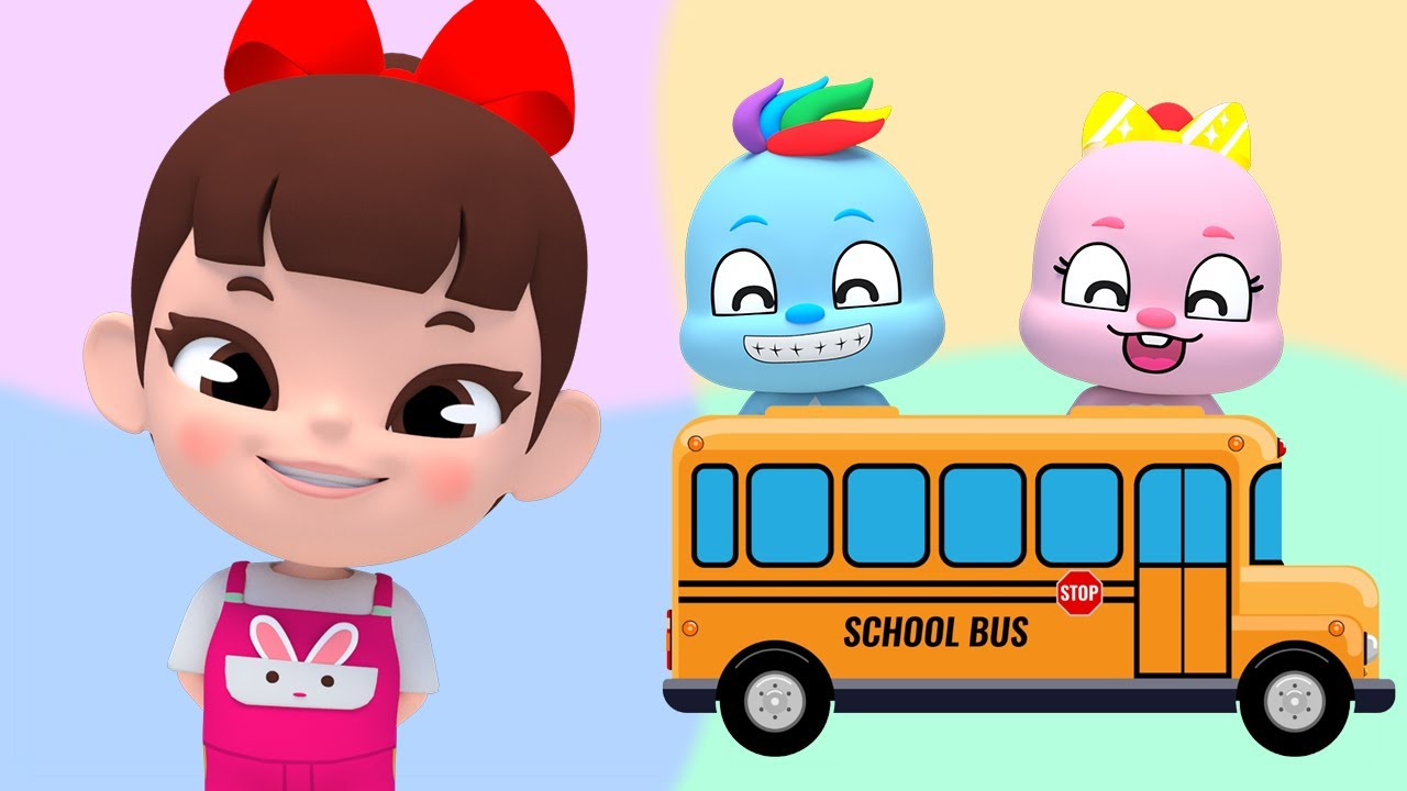 Color Beep Beep! Wheels On The Bus English Song Kids Nursery Rhymes | Super Lime And Toys