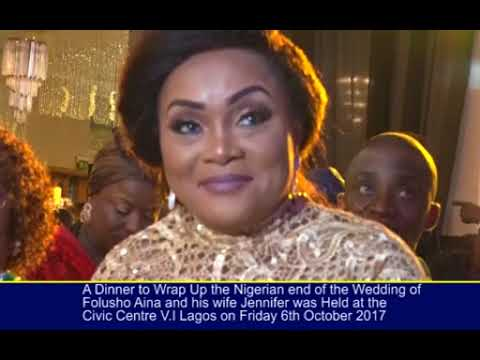 THE NIGERIAN END OF THE FOLUSHO AINA AND JENNIFER OHHKHUARE WEDDING IN LAGOS
