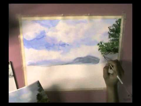 How to Watercolor Painting : Landscape 1