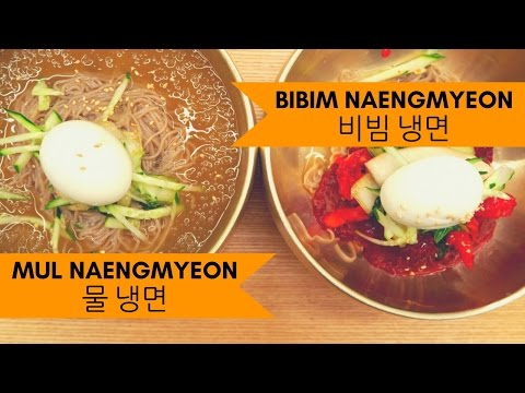 Naengmyeon (냉면): Cold Korean Noodles Challenge (물 냉면 vs 비빔 냉면) in Seoul, Korea
