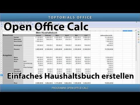 Eigenes Haushaltsbuch erstellen ganz leicht (OpenOffice Calc)