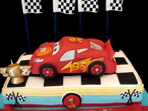 Cars Themed Fondant Cake- my third version - YouTube