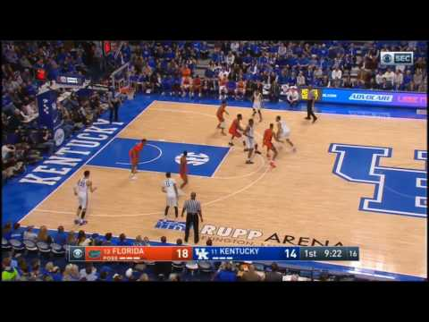 (NCAAM) #13 Florida at # 11 Kentucky in 40 Minutes - 2/25/17