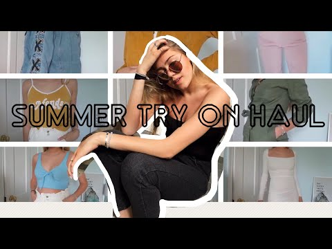 HUGE TRY-ON SUMMER HAUL (bikinis, shorts, cute tops, bottoms, sunnies)