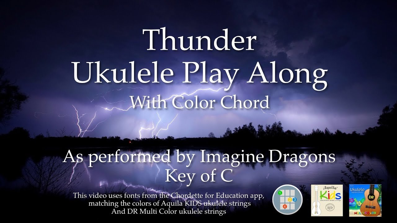 Thunder Ukulele Play Along - Easy