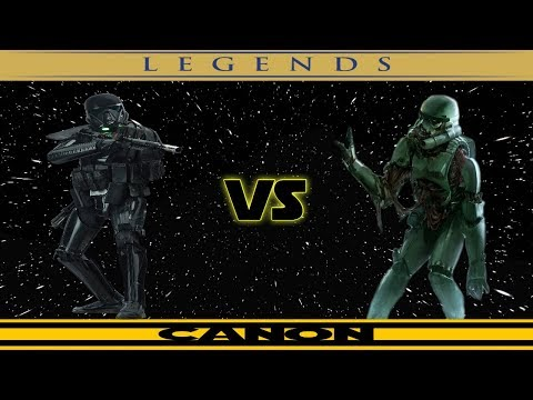 Legends VS Canon: Death Troopers