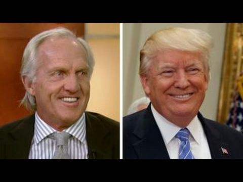 Legendary golfer Greg Norman grades President Trump