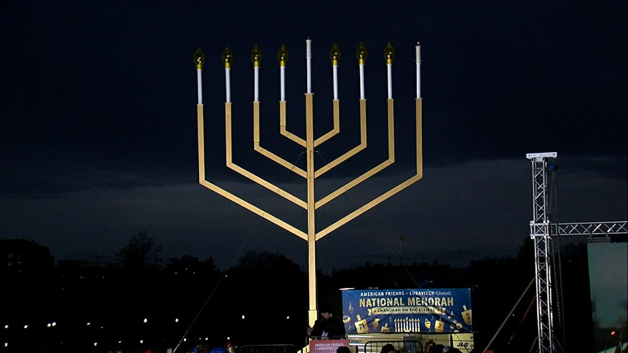 DC Celebrates Hanukkah with Menorah Lighting - YouTube