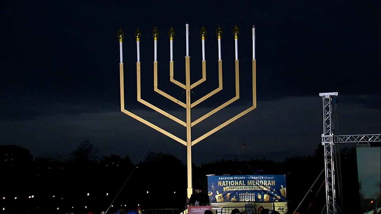 DC Celebrates Hanukkah with Menorah Lighting - YouTube