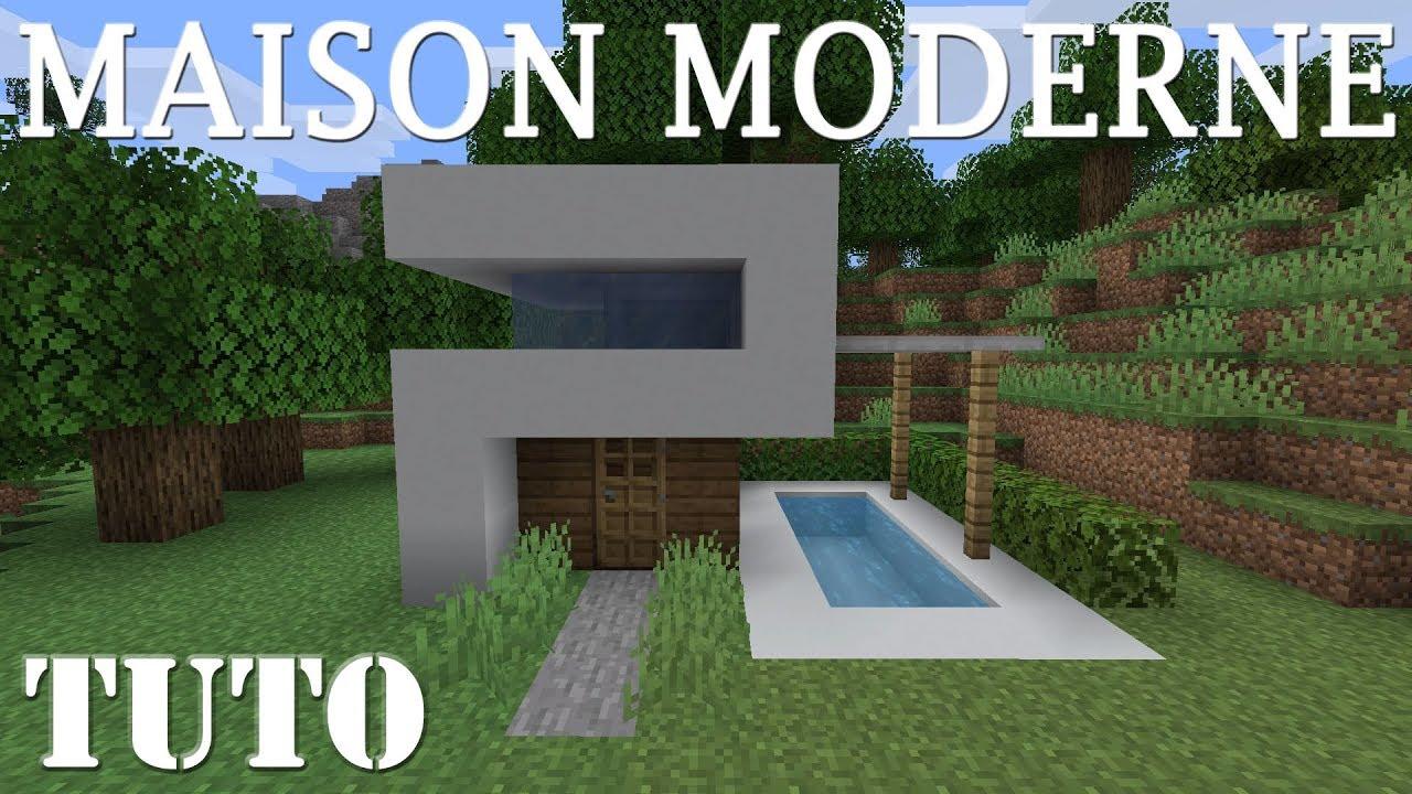 PETITE MAISON MODERNE - MINECRAFT PS4 - YouTube
