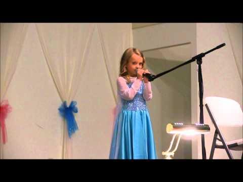 "5 Yr Old Singing ""Let It Go"" Olivia Richardson (HD)"