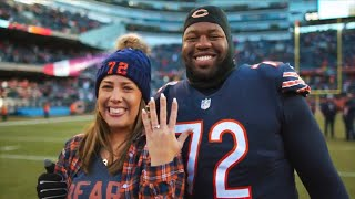NFL Player Proposes to Girlfriend Right...