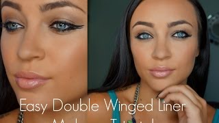 Easy Double Winged Liner Makeup Tutorial Thumbnail