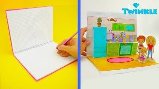 SIMPLE PAPERCRAFTS FOR KIDS HANDMADE DOLLHOUSE PAPER DOLLS