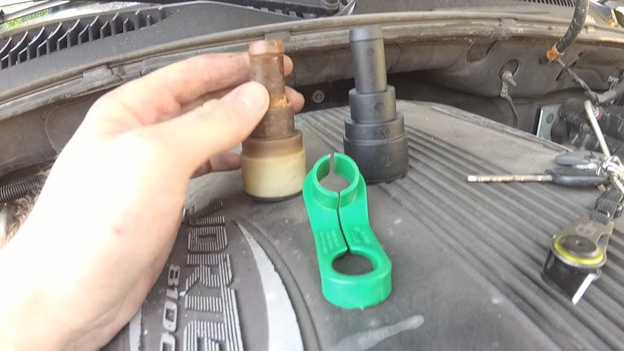 chevy truck heater hose quick disconnect removal diy [ 1280 x 720 Pixel ]
