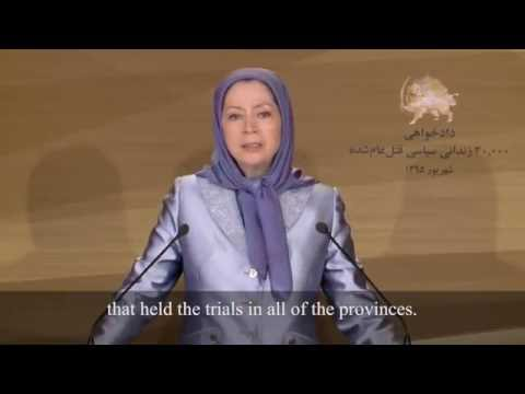 Rajavi urges international community to prosecute Iranian officials responsible for 1988 massacre