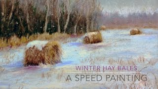 Speed Painting / Winter Hay Bales