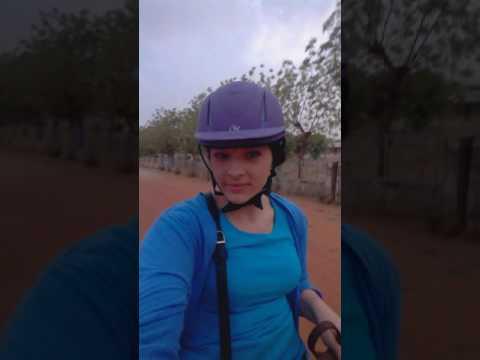 Riding a horse in Katsina city, Nigeria