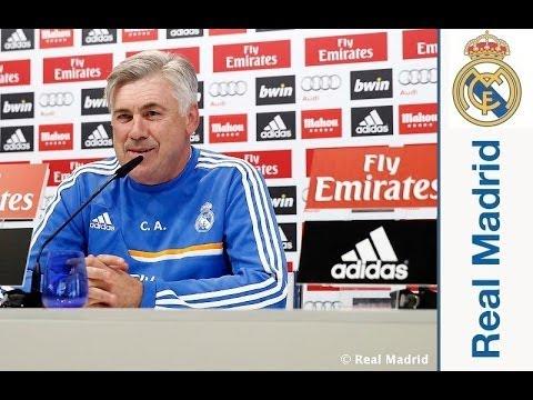 Rueda de prensa de Carlo Ancelotti previa al partido ante el Galatasaray