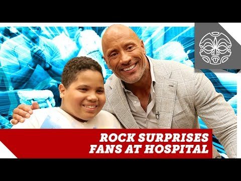 The Rock Surprises  at Special Skyscraper Hospital Screening