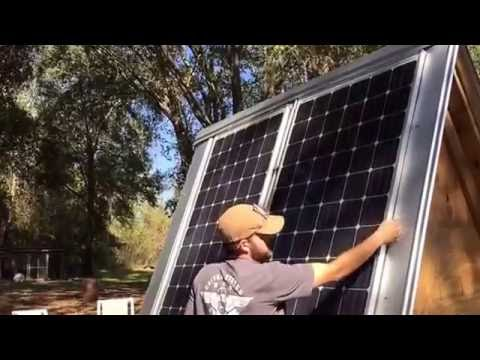 Portable solar trailer install by Off Grid Contracting