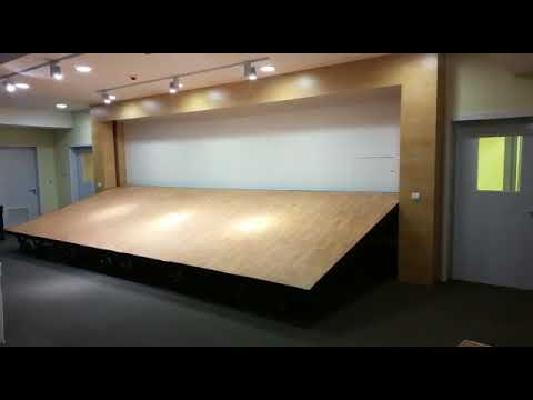 Retractable stage - Techno Sol co - Kuwait