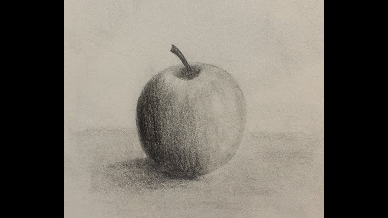 How to draw an apple pencilsketch