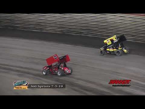 Knoxville Raceway 360 Highlights -June 5, 2019